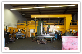 Inside of A&H Custom Machine Shop's machinery